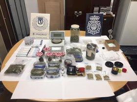 La droga requisada a la asociación de cannabis en Madrid.