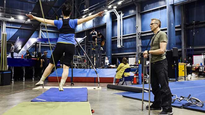 Ensayos del espectáculo 'Messi10' de Cirque du Soleil en Montreal.