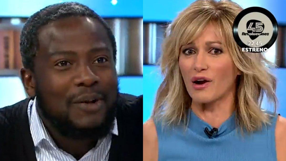 Bertrand Ndongo y Susanna Griso.