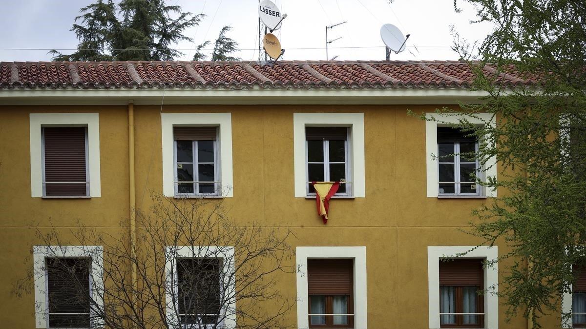 Fachada del edificio donde se encuentra la sede de la Fundación Francisco, en la calle de Concha Espina de Madrid.