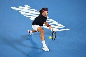 Federer, durante su sufrida victoria.