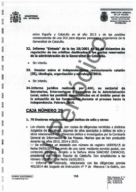 Fragmento del oficio 3022/2017 - CUP