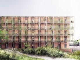 Futuro aspecto de la nueva promoción de viviendas de Gavà