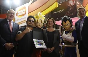 Baiges y Colau inauguran la feriadel videojuego de Barcelaona.