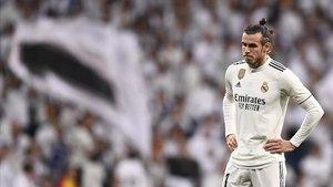 Bale resignado en el clásico.