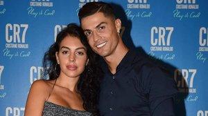 Cristiano Ronaldo y su pareja, la modelo Georgina Rodríguez.