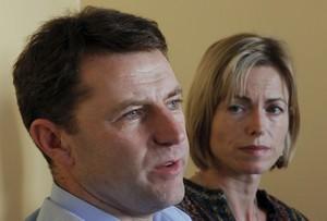 Gerry i Kate McCann, davant la premsa dimecres passat a Lisboa.