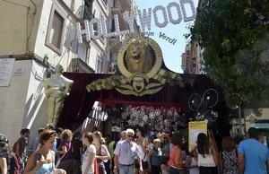 Entrada a la calle de Verdi en la fiestas de Gràcia de este año.