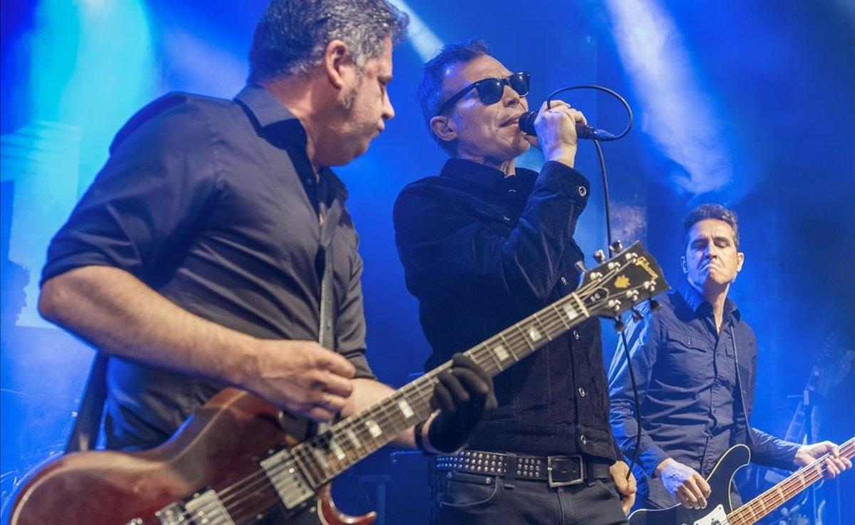 El grupo 091, en su concierto en la sala Apolo.