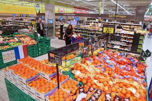 Fruta en un hipermercado Carrefour.