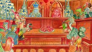 Ilustración de Peter Kuper para Alicia en el país de las Maravillas, versión publicada por Sexto Piso.