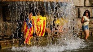 Imagen de la Diada del 2014 captada en la plaza Espanya de Barcelona