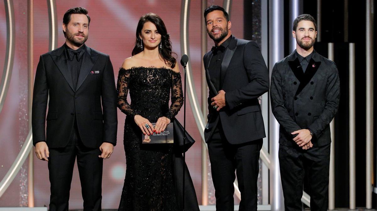 En la imagenEdgar Ramírez, Penélope Cruz, Ricky Martin y Darren Criss.