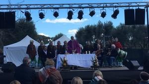 Imagen de la misa rociera celebrada este sábado en el transcurso del Dia de Andalucía en Rubí.