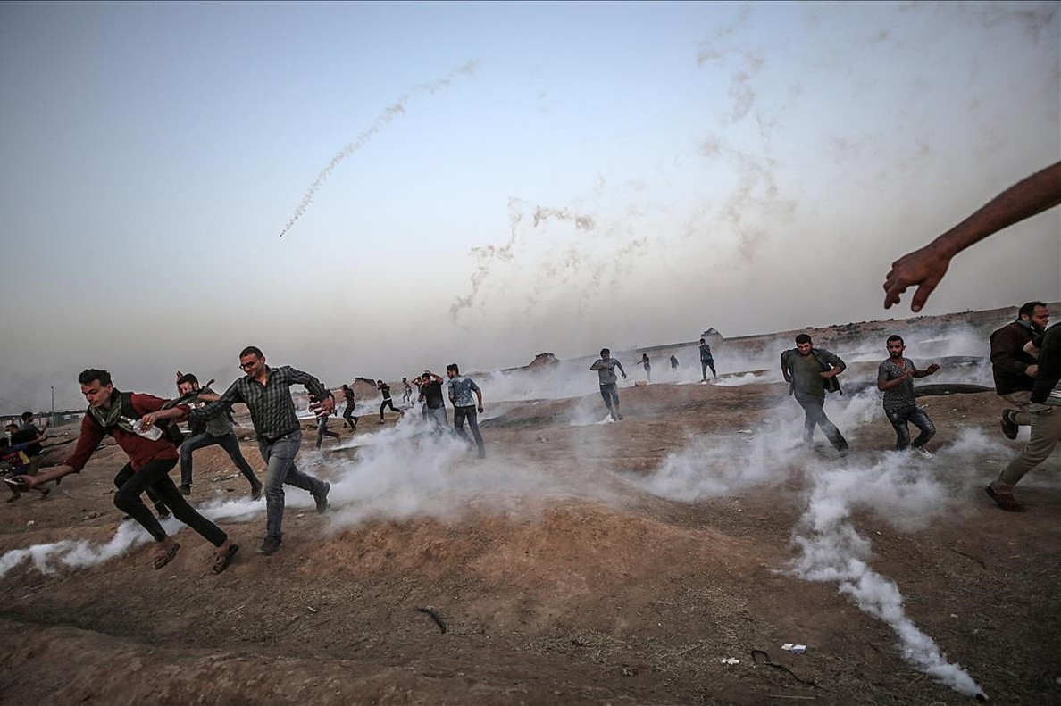 Incidentes en la frontera de Gaza.