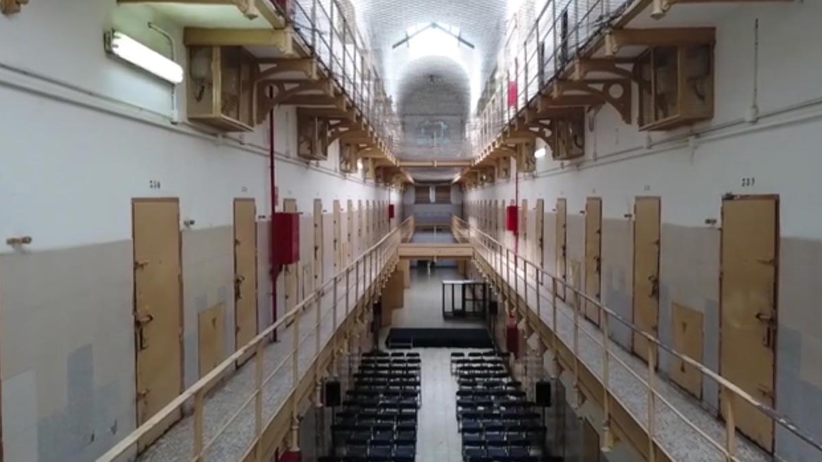 El interior de la cárcel Modelo, a vista de dron.