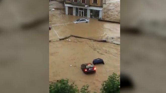 Inundaciones en Tafalla (Navarra).