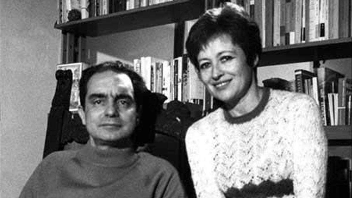 Italo Calvino y su esposa Chichita Calvino, la argentina Esther Judith Singer