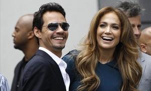 Jennifer Lopez y Marc Anthony, juntos en el 2011, en Los Ángeles.