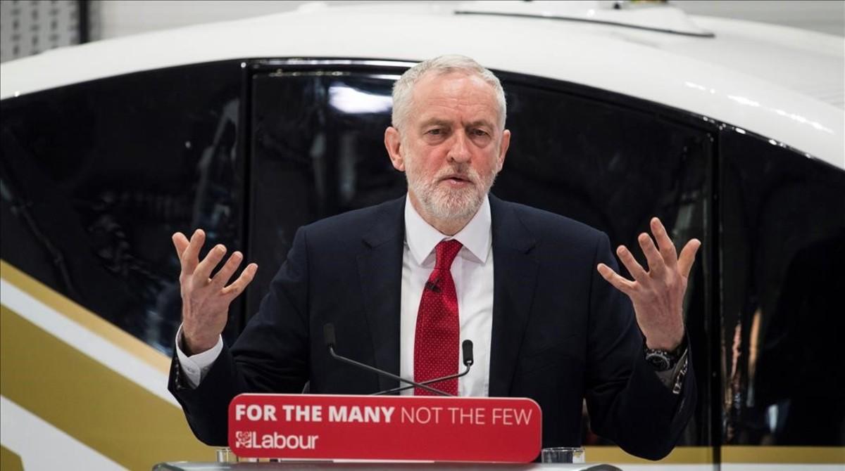 Jeremy Corbyn durante su intervención sobre el 'brexit'.