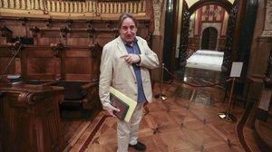 Juanjo Puigcorbé en el pleno del Ajuntament.