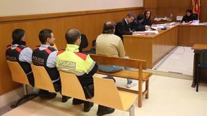 Jaime Riera Galán, acusado de agredir sexualmente a un menor, el pasado 7 de febrero en la Audiencia de Barcelona.