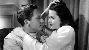 JUNTO A SPENCER TRACY. La pareja de actores en 'Esta mujer es mía' (1940).