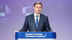 El vicepresidente de la Comisión Europea, Valdis Dombrovskis.