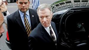 Lewis 'Scooter' Libby, exjefe de gabinete de Dick Cheney, a su salida del Tribunal Federal en Washington DC (EEUU), el 5 de junio del 2006.