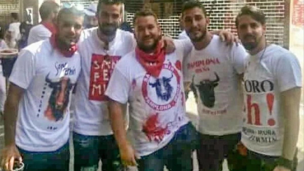Los cinco miembros de 'la Manada' condenados.