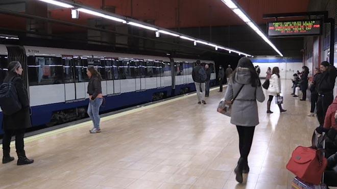 Los maquinistas del metro de Madrid, en huelga.