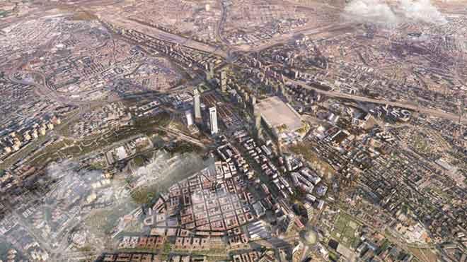 Madrid Nuevo Norte se retrasa hasta después de las elecciones. En la foto, una maqueta del proyecto.