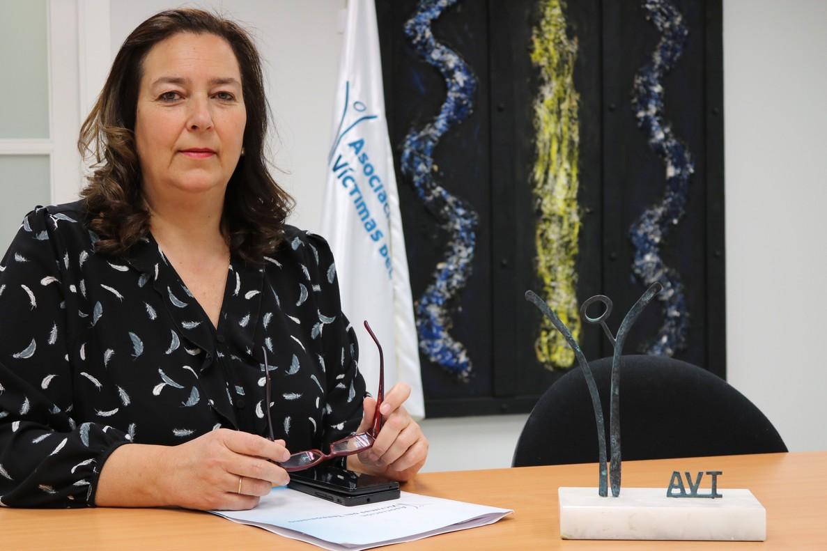 Maite Araluce ha sido elegida este sábado nueva presidenta de la Asociación Víctimas del Terrorismo (AVT).