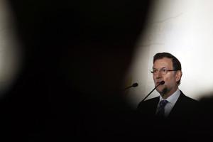 Mariano Rajoy, el lunes, durante un desayuno informativo en Madrid.
