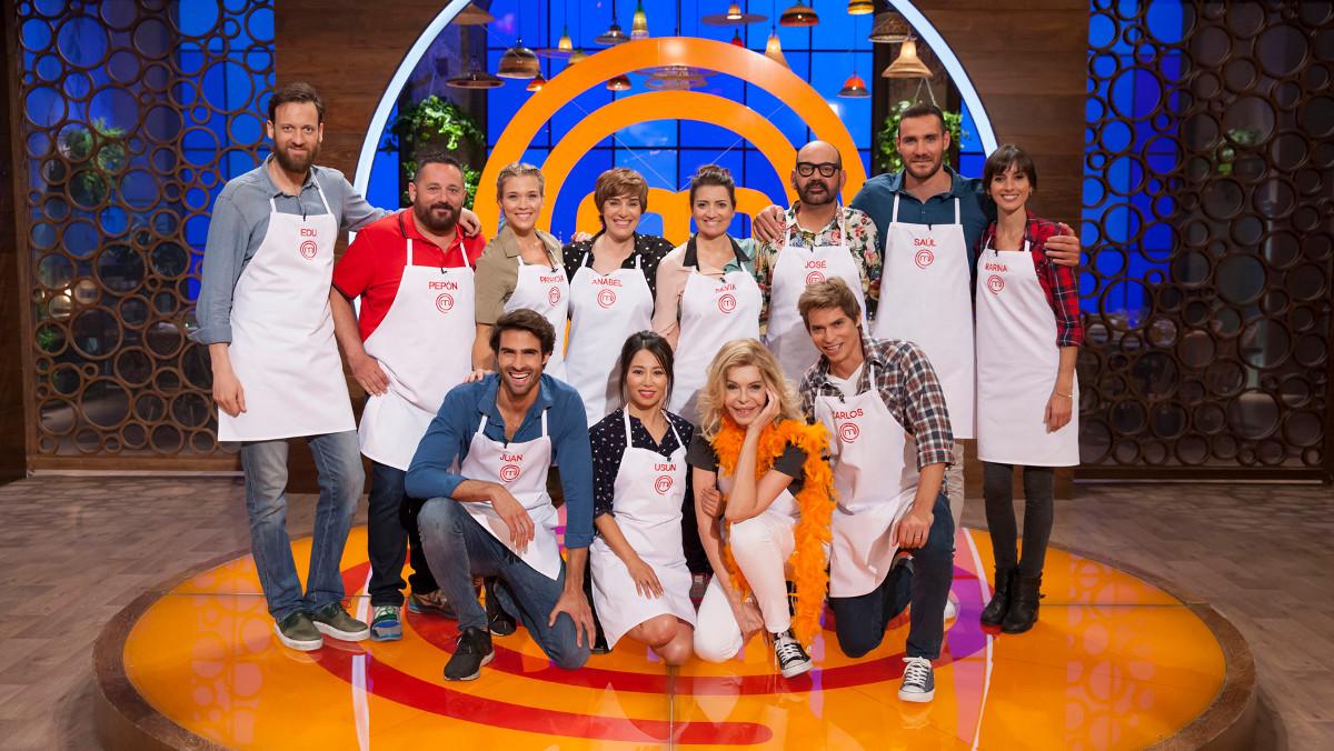 Los participantes dela segunda edición del concurso gastronómico de TVE-1 'Masterchef Celebrity'.