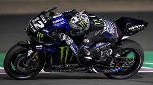 Maverick Viañles (Yamaha), en su vuelta rápida de hoy, que le otorgó la 'pole' en Doha, Catar.
