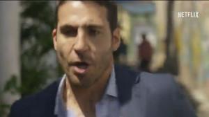 Miguel Ángel Silvestre, en el tráiler de la tercera temporada de 'Narcos'.