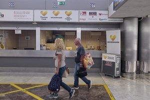 Mostrador de Thomas Cook en el aeropuerto de Tenerife Sur.