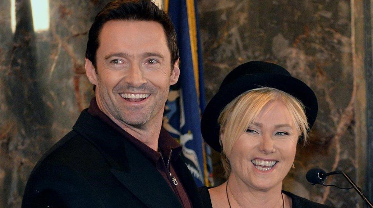 Hugh Jackman y su mujer, la también actriz Deborra-lee Furness.