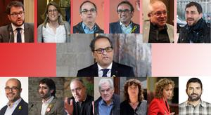 Estos son los 'consellers' del Govern de Quim Torra.