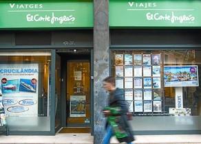 Oficina de la agencia Viajes El Corte Inglés en Barcelona.