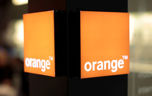 An Orange logo is seen in a phone shop of a shopping centre in Nice, southern France, March 8, 2016. REUTERS/Eric Gaillard/File Photo GLOBAL BUSINESS WEEK AHEAD PACKAGE - SEARCH BUSINESS WEEK AHEAD 24 OCT FOR ALL IMAGES
