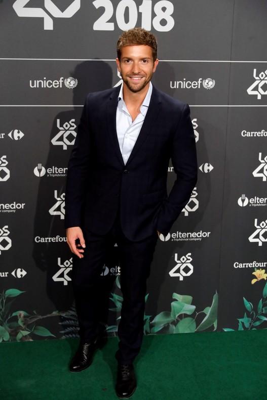 Pablo Alborán, otro de los grandes invitados que acudió a la cena de nominados de Los 40 Music Award.