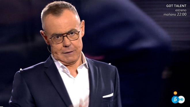 Jordi González presentando 'GHVIP' (Telecinco).