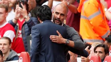 Guardiola sale vencedor del duelo con Emery