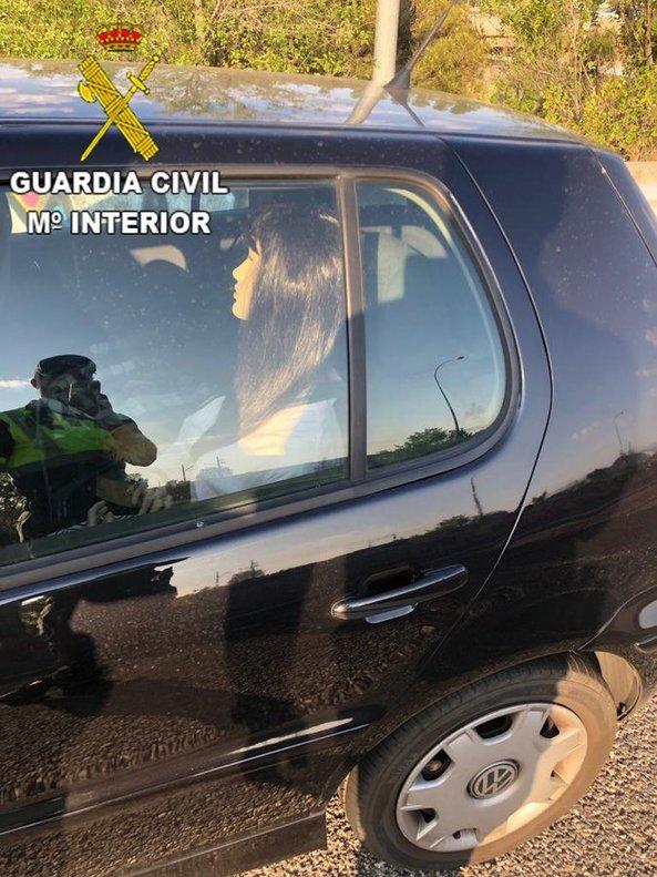 La imagen difundida por la Guardia Civil.