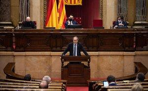 Intervención de Quim Torra en el pleno extraordinario del Parlament sobre el papel de la monarquía.