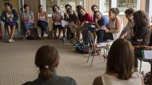 Preparativos del curso escolar en el colegio Els Pinetons, de Ripollet (Vallès Occidental), el pasado septiembre.