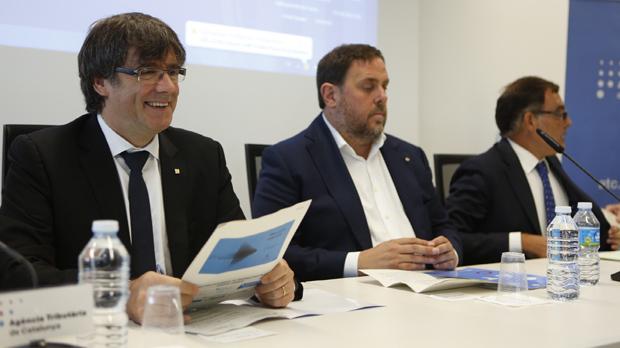 El president de la Generalitat presenta la ATC como prueba de que Catalunya está preparada para asumir la decisión del 1-O.