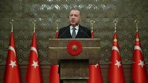 El presidente turco, Recep Tayyip Erdogan, hoy en Ankara.